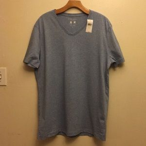 Banana Republic Mens Vneck Tech Cotton T size L